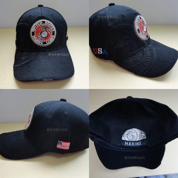 黑色军警帽